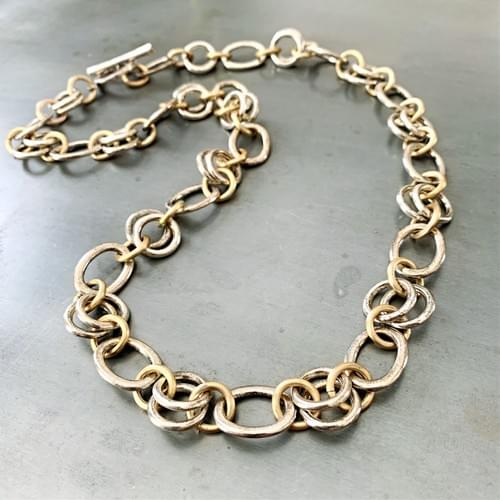 Chunky Two-Toned Chain Necklace