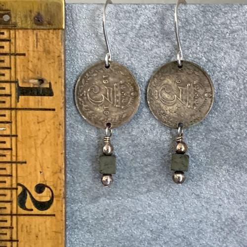 Antique Coins with Hematite