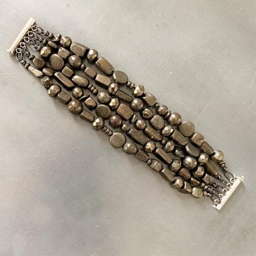 Multi-strand Pyrite Bracelet