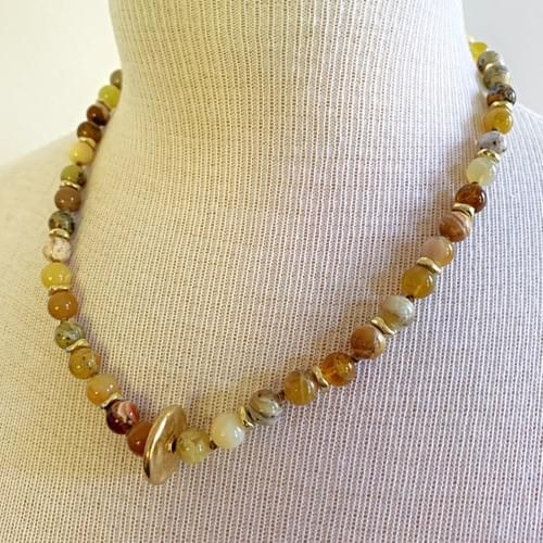 Gold Vermeil 'Wheel' with Agate