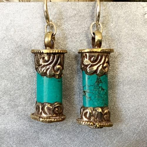 Turquoise and Tibetan Silver