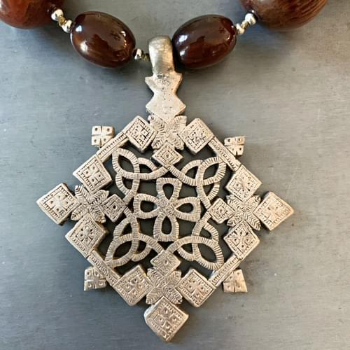 Large Ethiopian Coptic Cross