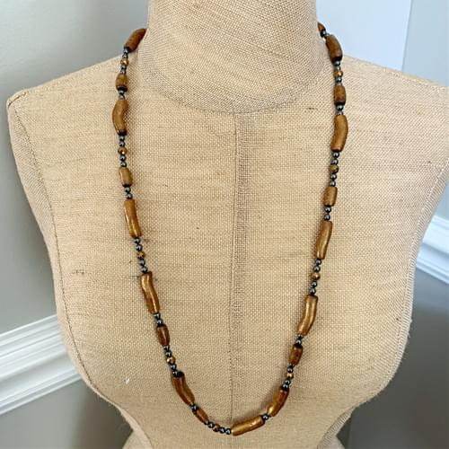 Golden Coral and Hematite Strand