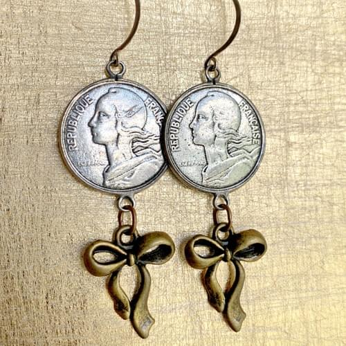 French Coin and Bow