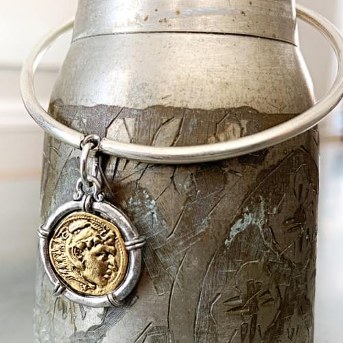 Dangle Bangle Two-tone Coin Charm