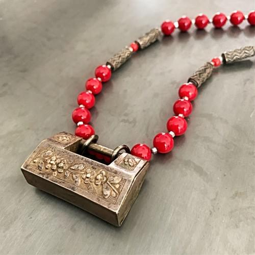 Ching Dynasty Lock with Red Coral