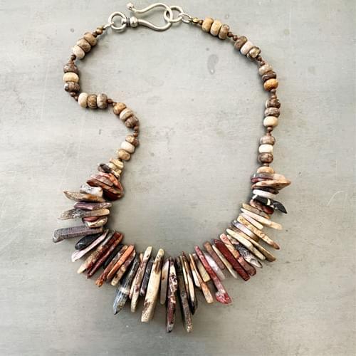 Dramatic Jasper Shard Necklace