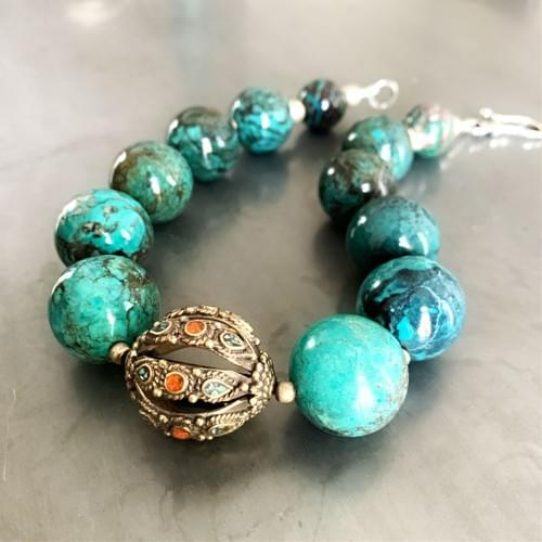 Turquoise with Nepali Centerpiece