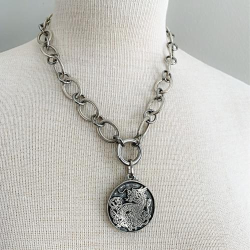 Chain Necklace with Dragon Pendant (Removable)