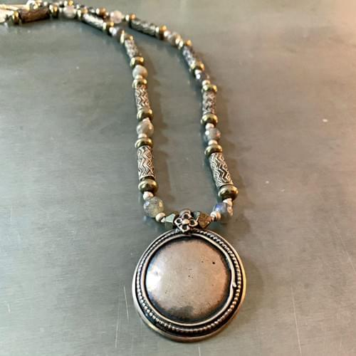 Antique Rajasthan Silver Pendants from India