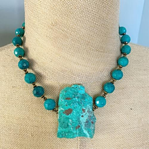 Turquoise Rough Slab Necklace