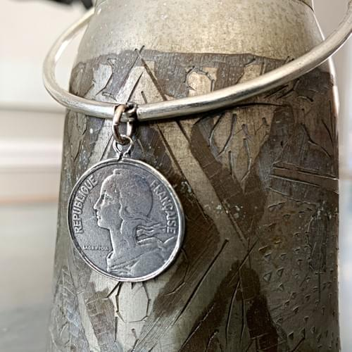 Dangle Bangle French Coin