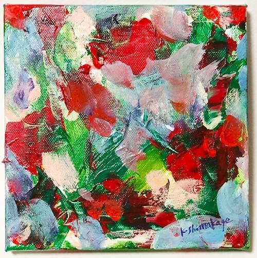 アクリル絵画「 花束−1」