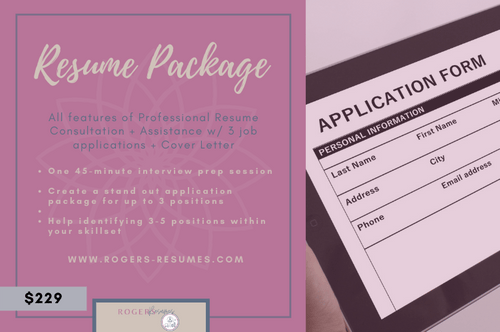 Resume + Application Package (w/ cover letter)