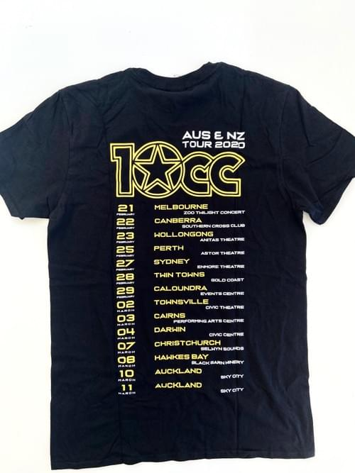 10CC  - Australia and NZ Tour tee 2020