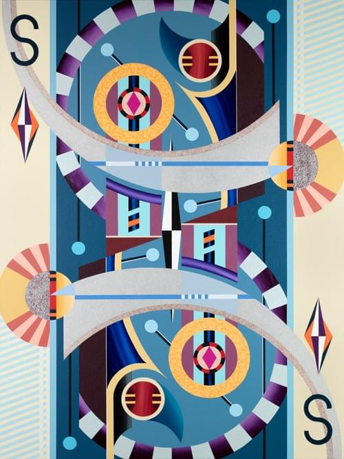 PLAYING CARD 1S - DIAMOND - SET CIRCLES - HOOPKA