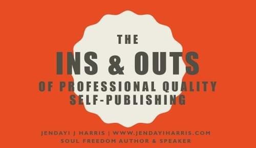 Ins and Outs of Professional Quality Self-Publishing Checklist