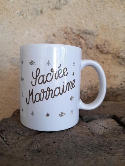 """Mug """"Sacrée Marraine"""""""