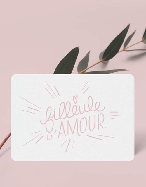 Mini carte « Filleule d'amour »