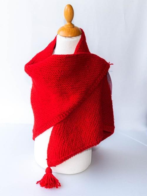 Châle tricoté enfant