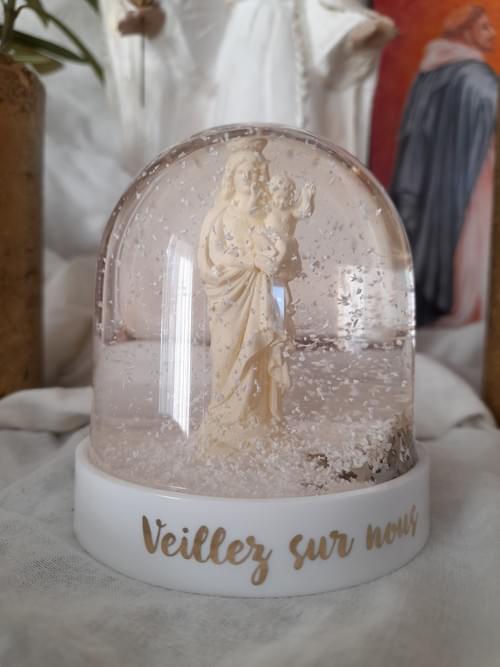 Boule à neige Vierge à l'enfant