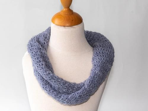 Snood simple (tour de cou) torsadé