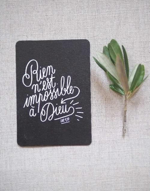 Mini carte « Rien n'est Impossible à Dieu »
