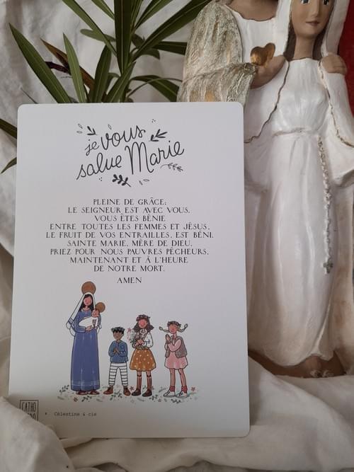 """Affichette """"Je Vous salue Marie"""""""