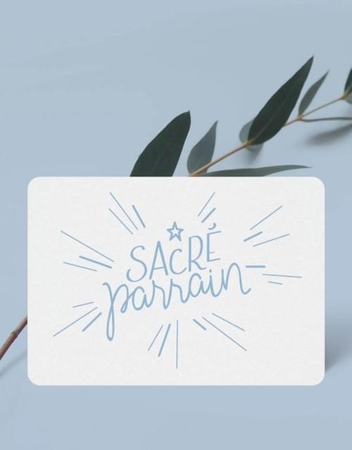 Mini carte « Sacré Parrain »
