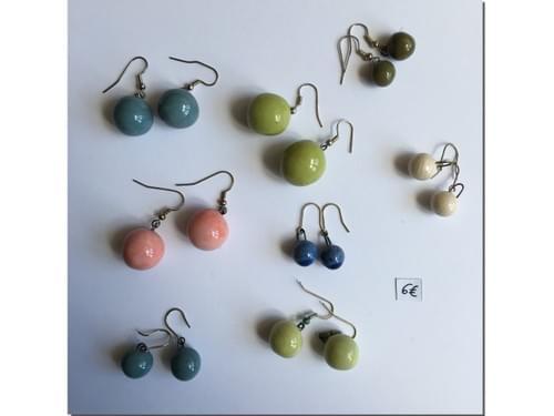 Boucles d'oreille Céramique colorée