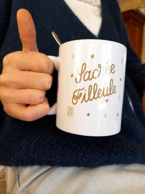 "Mug ""Sacrée Filleule"" -  mug fille"
