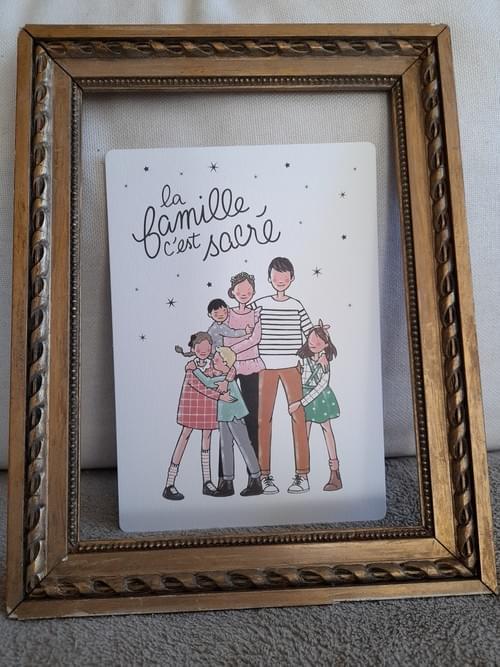 Affichette « La Famille C'est Sacré »