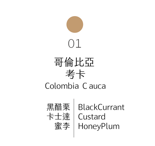 淺烘焙|No.01 哥倫比亞 考卡