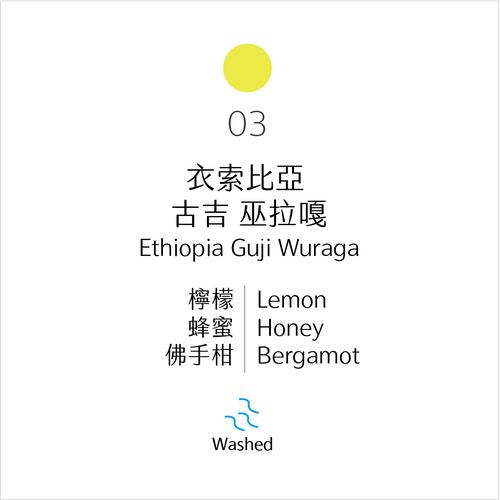 淺烘焙|No.03 衣索比亞 古吉 烏拉嘎 水洗|Wuraga, Guji, Ethiopia, Washed Process