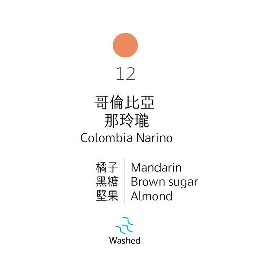 中烘焙|No.12 哥倫比亞 那玲瓏 水洗|Narino, Colombia, Washed Process