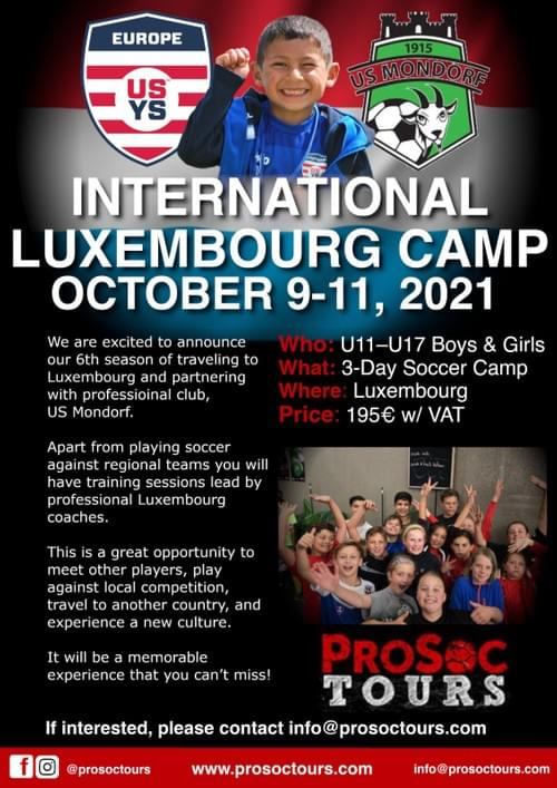 International Camp in Luxembourg – October 9-11, 2021