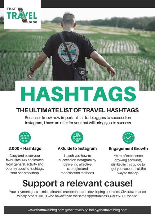 The Ultimate List of 3,000+ Instagram Hashtags for Travel Bloggers