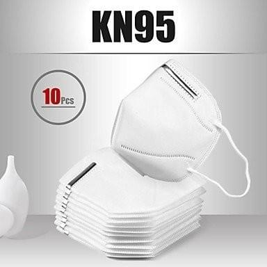 10 pcs KN95 Face Mask Respirator Protection In Stock Melt Blown Fabric Filter White