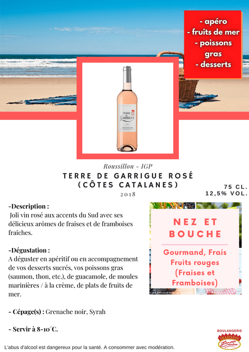 TERRE DE GARRIGUE : ROSÉ 2018 (IGP Côtes Catalanes)
