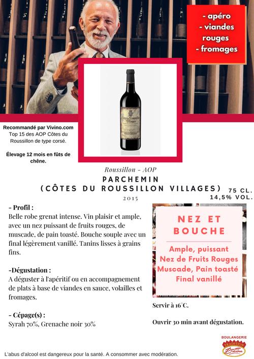 PARCHEMIN 2015 (AOP Côtes du Roussillon Villages)