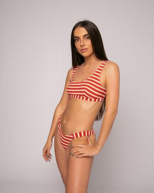 Bikini Top Rayas