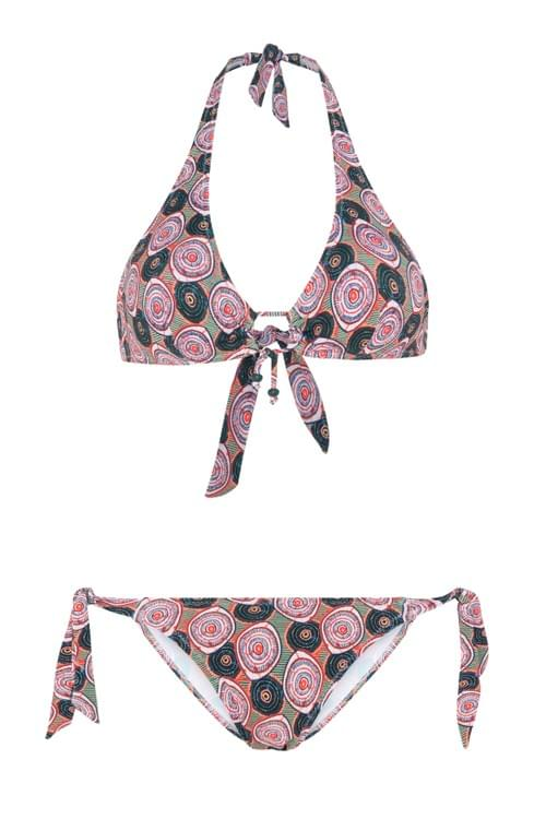 Bikini Halter Círculos