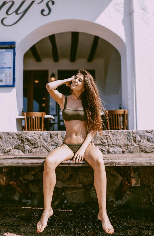 Bikini Top Piqué Kaki - 49,00€