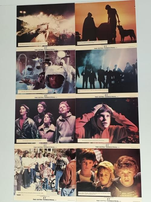 """ET Film ORIGINAL RARE LOBBY CARDS - SET OF 8 - EACH 8 x 10"""""""
