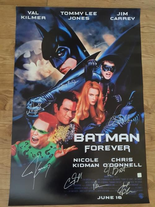 """Batman Forever MULTIPLE SIGNED POSTER 27X40"""""""