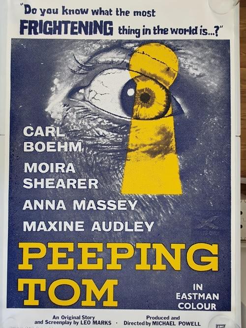 """Peeping Tom (1960) RARE ORIGINAL ONE SHEET MOVIE POSTER 27 x 41"""""""