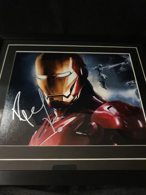 Iron Man Framed Photo SIGNED BY ROBERT DOWNEY JR -- SOLD