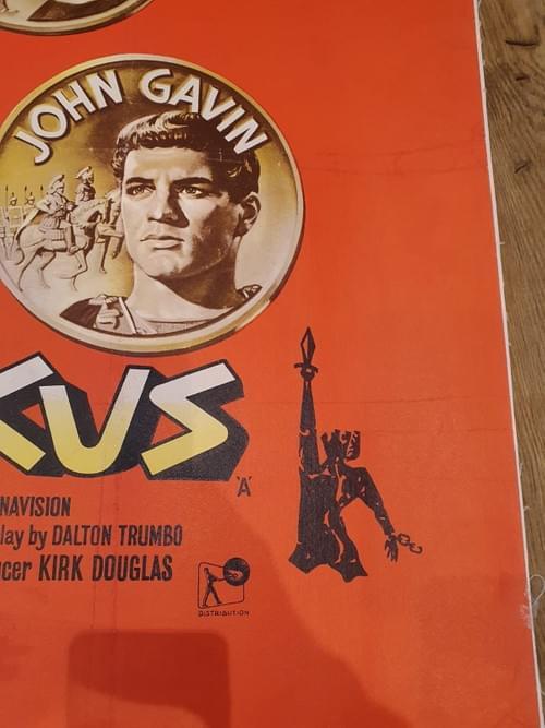 "Spartacus (1960) ORIGINAL LINEN BACKED POSTER 30x40"""