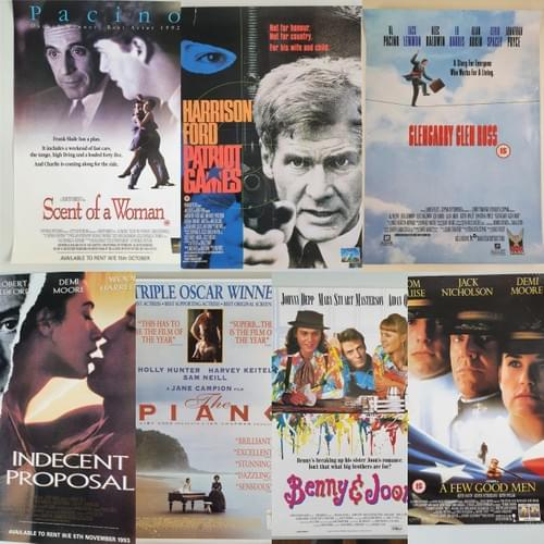Collection of 11 x Video Store Original Iconic Movie Posters JOB LOT 16 x 23""