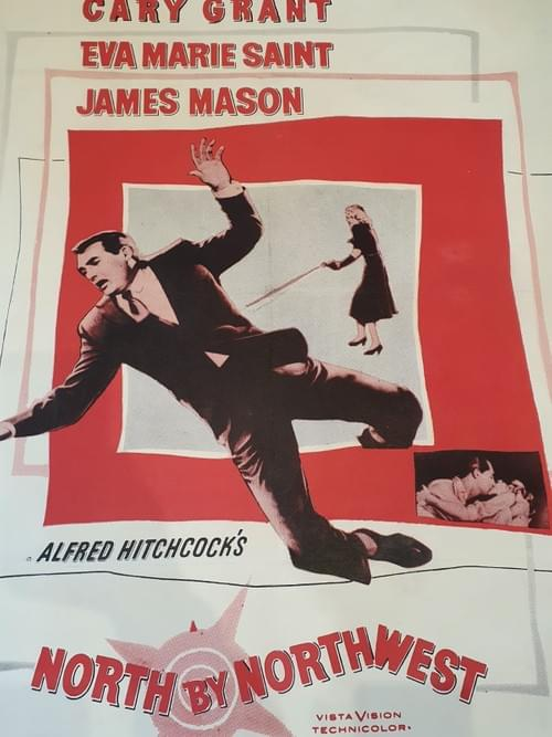 """North by Northwest (1959) ORIGINAL LINEN BACKED POSTER 27X41"""""""